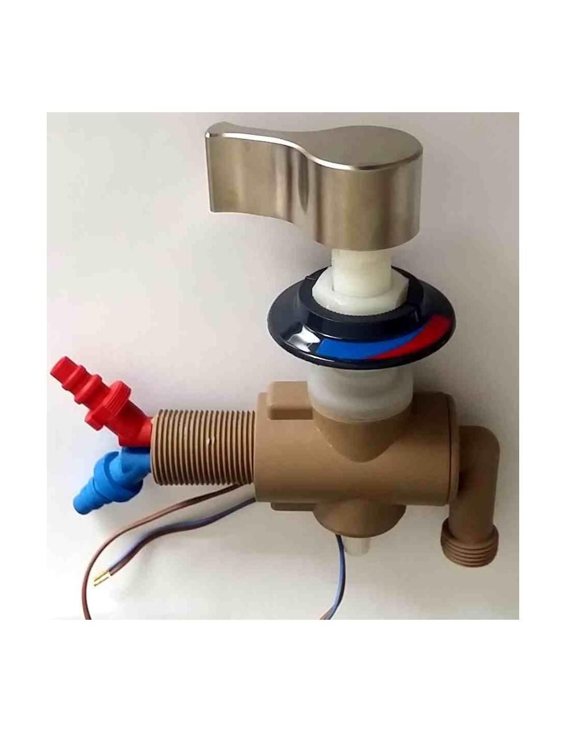 Mezclador de agua con activador bomba caravaning for Mezclador agua para ducha