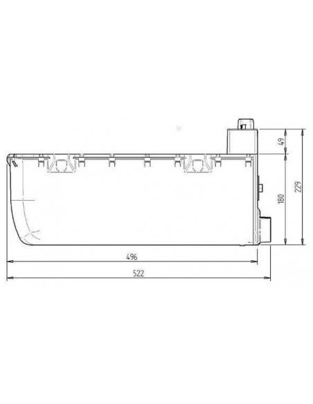 CALENTADOR AGUA A GAS WHALE EXPANSE + kit montaje exterior 1.25m