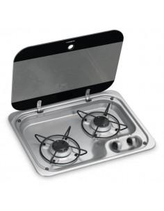 cocina empotrable 2 quemadores con tapa DOMETIC
