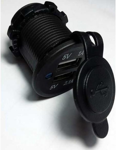 CARGADOR USB SERIE BLACK