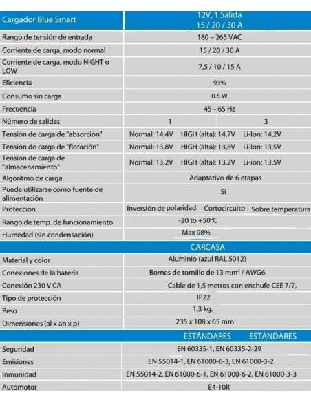 CARGADOR VICTRON BLUE SMART IP22