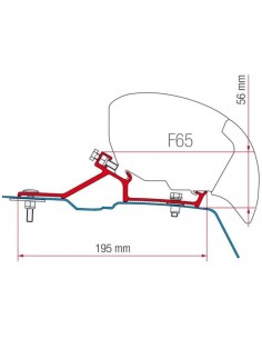 SOPORTE FIAMMA F65S/F80S PARA MOVANO MASTER NV400 2010