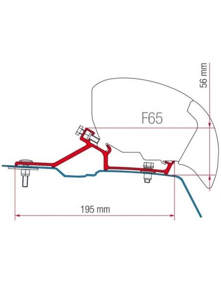 SOPORTE FIAMMA F65S PARA MOVANO MASTER NV400 2010