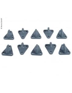 SET DE 10 GANCHOS TRIANGULARES EN PLASTICO
