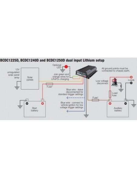 BOOSTER 40A REDARC BCDC1240D CON REGULADOR SOLAR MPPT