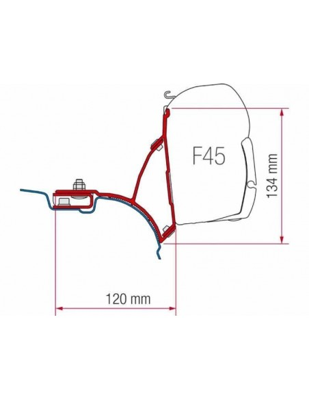 ADAPTADOR FIAMMAKIT VW T5/T6 TRANSPORTER MULTIVAN