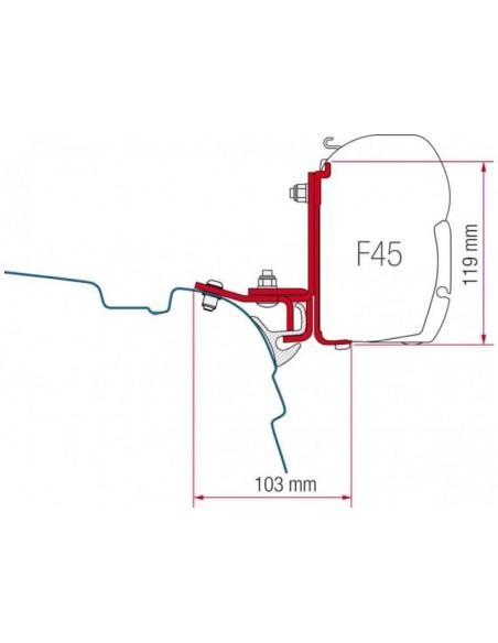 ADAPTADOR F45/F45L T5 PARA BRANDRUP/ MULTIRAÍL