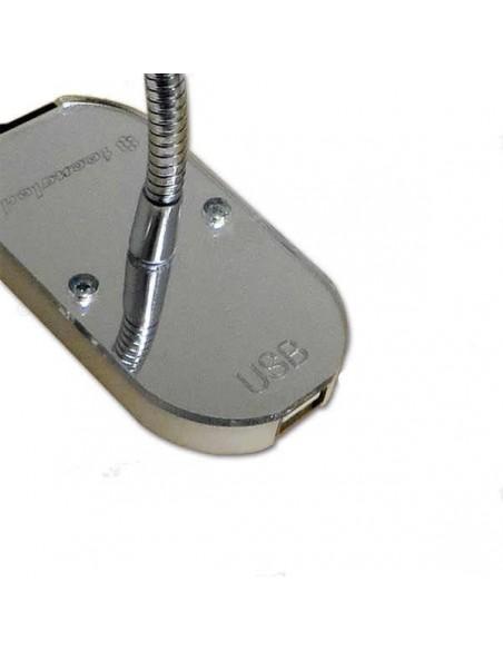 LUZ ORIENTABLE DE LED CON USB Y INTERRUPTOR