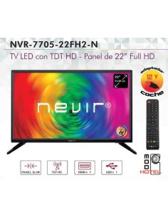 "TV LED NEVIR con TDT HD  22"" Full HD"