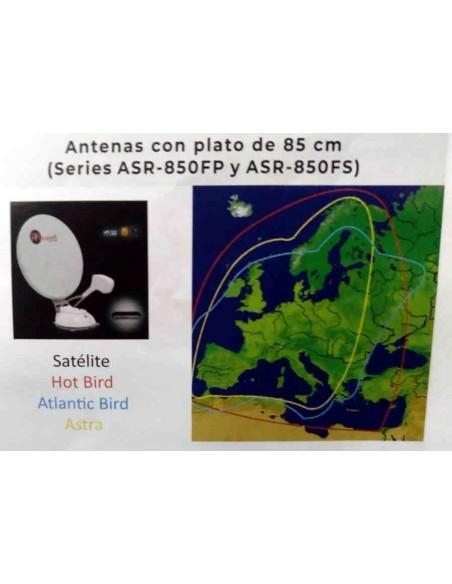 ANTENA SATÉLITE MECATRONIC 85cm AUTOMÁTICA CON BLUETOOTH