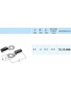 TERMINALES REDONDOS PARA CABLE DE 35 mm